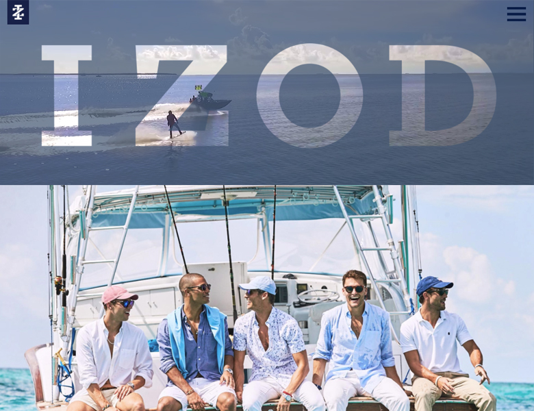 IZOD LookBook: Front-End Development, UX/UI