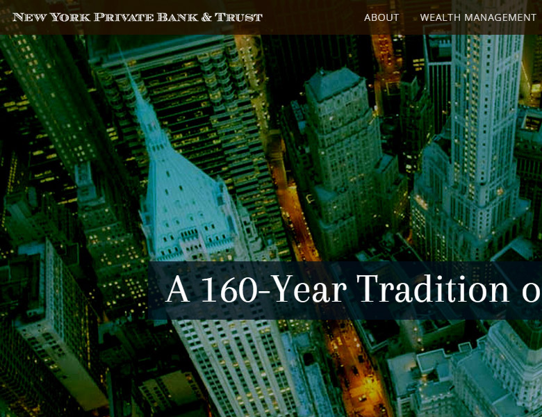 New York Private Bank & Trust: Web Design